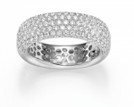 Pave Brillantring 1,70 ct.