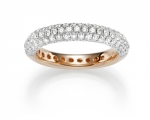 Pave Schmuck Rosegold 1,3 ct.