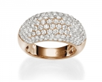 Pave Ring 133 Brillanten 2,55 ct.