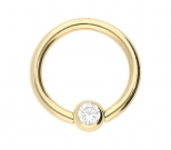 Ball Closure Ring Gold 1,2 mm