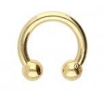 Hufeisen Piercing Gold 1,6 mm