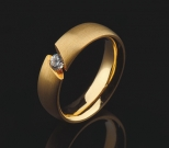 Ring Gold mit Brillant 0,16 ct.
