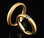 Gold Ringe mit Brillant 0,16 ct.